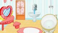 豪华泡泡浴室展示一
