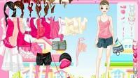 粉色美眉换装展示四