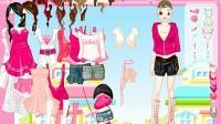 粉色美眉换装展示五