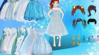 冰蓝公主裙展示一