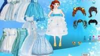 冰蓝公主裙展示二