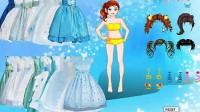 冰蓝公主裙展示三