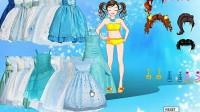 冰蓝公主裙展示五