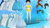 冰蓝公主裙展示四