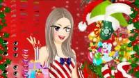 圣诞美人化妆展示一