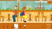 当咖啡厅女服务员