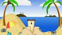 海滩猫狗大战