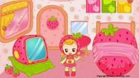 布置粉红草莓房间展示一