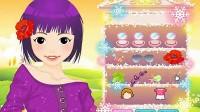 紫色系女孩展示五