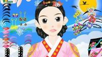 韩国古装女孩展示一