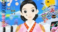 韩国古装女孩展示五