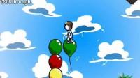 跳跃气球的小人第一关