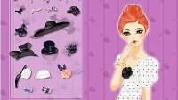 时尚薄纱帽展示三