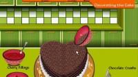 爱心巧克力蛋糕演示五