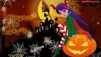 万圣节前夕的魔女装扮一