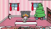 圣诞节的可爱房间—堆个大雪人