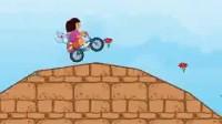 朵拉带小猴骑单车1