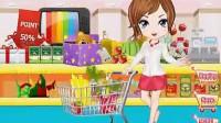 女孩超市购物04