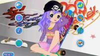 玩滑板的女孩03