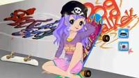 玩滑板的女孩04