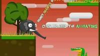 大象喂鳄鱼1