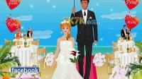 海滩上的婚礼演示一