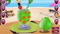 五彩水果冰沙演示1