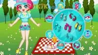 女孩郊外野餐01