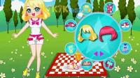女孩郊外野餐05
