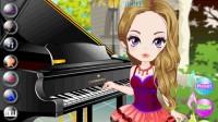 美女钢琴演奏02