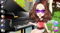 美女钢琴演奏01