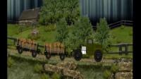 运输木材大卡车