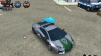 3D警车停车场B-4