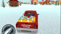 送圣诞礼物的卡车