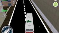 3D城市巴士停靠3
