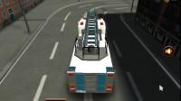 3D救护车路边停靠游戏展示