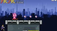 动物明星玩转滑板游戏展示