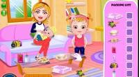 可爱宝贝的家庭野餐游戏展示1