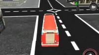 消防车停靠灭火游戏展示3