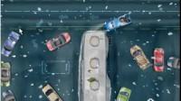 雪夜皮卡停车展示视频1